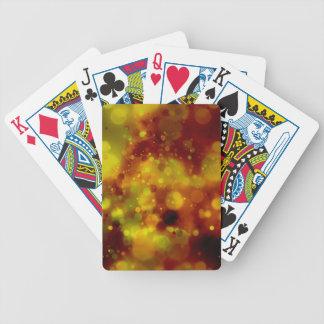 Mutig u. Chic rot und gelber Watercolor abstrakt Bicycle Spielkarten