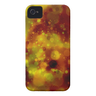 Mutig u. Chic rot und gelber Watercolor abstrakt iPhone 4 Cover
