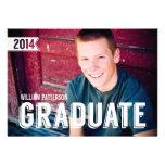 Mutige Absolvent-Typ-Foto-Abschluss-Party Einladun