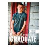 Mutige Absolvent-Typ-Foto-Abschluss-Party Einladun Personalisierte Ankündigungskarte