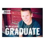 Mutige Absolvent-Typ-Foto-Abschluss-Party Einladun Einladungskarte