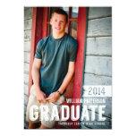 Mutige Absolvent-Typ-Foto-Abschluss-Party Personalisierte Ankündigungskarte