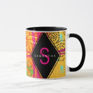 Mutige abstrakte Monogramm-Kaffee-Tasse Tasse