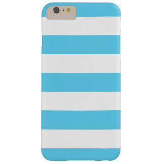 Mutige blaue und weiße Streifen Barely There iPhone 6 Plus Hülle