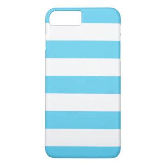 Mutige blaue und weiße Streifen iPhone 7 Plus Hülle