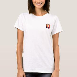 Mutige bunte LIEBE abstrakte Valentines T-Shirt