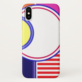 Mutige Farben, feines Grafikdesign iPhone X Hülle