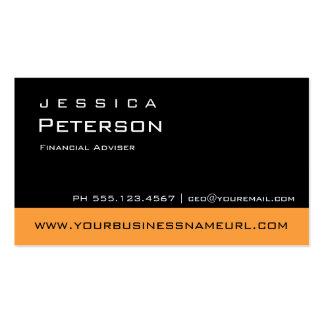 Mutige Farborange Finanzberater-Visitenkarten Visitenkarten