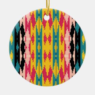 Mutige Farbstammes- Azteke Keramik Ornament