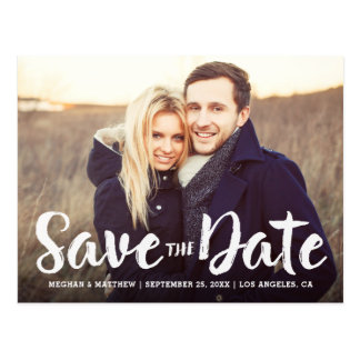 Mutige gebürstete Save the Date Postkarte