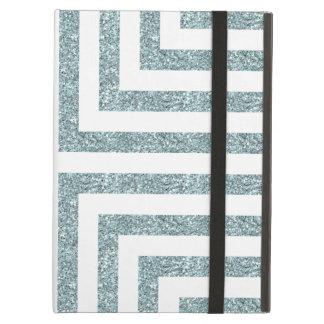 Mutige geometrische Linien im festen blauen