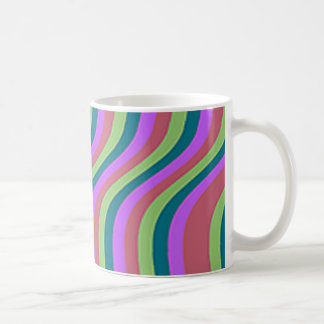 Mutige gewellte Streifen Kaffeetasse