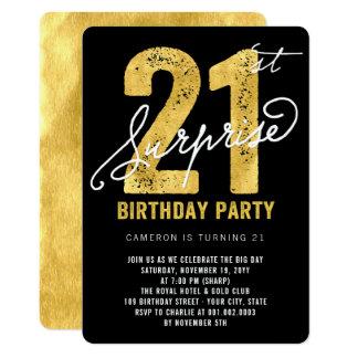 Mutige Goldfolien-Überraschungs-laden 21. 12,7 X 17,8 Cm Einladungskarte