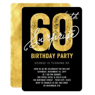 Mutige Goldfolien-Überraschungs-laden 60. 12,7 X 17,8 Cm Einladungskarte