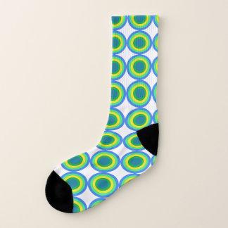 Mutige grüne und gelbe Stier-Augendiagramm-Socken Socken