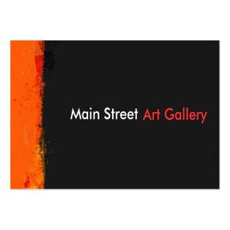 Mutige Grunge-Farbe spritzt abstrakte Mini-Visitenkarten