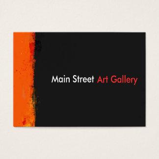 Mutige Grungewatercolor-Farbe spritzt abstraktes Visitenkarte