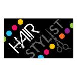 Mutige Haar-Stylist-Geschäfts-Karte Visitenkarten