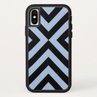 Mutige hellblaue und schwarze Sparren iPhone X Hülle