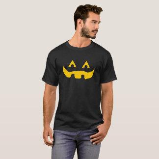 Mutige lächelnde gelbes gespenstisches T-Shirt