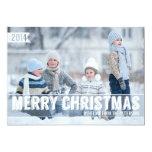 Mutige moderne frohe Weihnacht-große Foto-Karte Personalisierte Einladungskarte