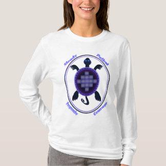 Mutige Schildkröte - mit Buchstaben T-Shirt