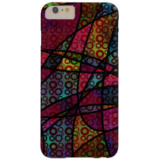 Mutige schwarze Linien u. mehrfarbige, abstrakte Barely There iPhone 6 Plus Hülle
