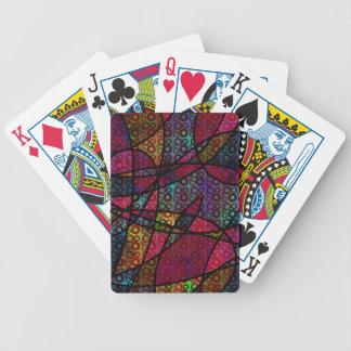 Mutige schwarze Linien u. mehrfarbige, abstrakte Bicycle Spielkarten