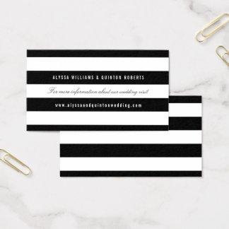 Mutige schwarze Streifen, die Informations-Einsatz Visitenkarte