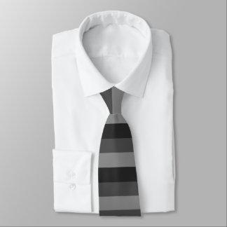 mutige schwarze und graue Streifen Individuelle Krawatte
