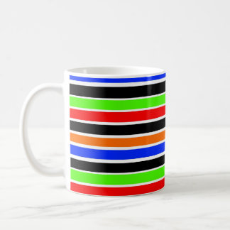 mutige Streifen-Tasse Kaffeetasse