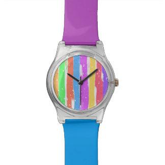 Mutige Streifen-Uhr Armbanduhr