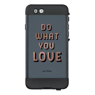 Mutige Typografie   tun, was Sie Liebe LifeProof NÜÜD iPhone 6 Hülle
