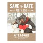 Mutige u. Crafty Save the Date Karten Personalisierte Ankündigungen