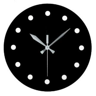 Mutige unbedeutende Schwarzweiss-Uhr Große Wanduhr