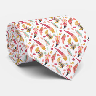 Mutige und bunte Boho Federn Individuelle Krawatten