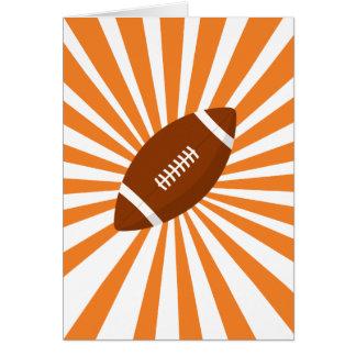 Mutiger amerikanischer Fußball mit orange Karte