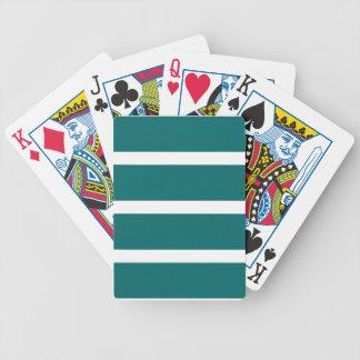 Mutiger aquamariner Streifen Bicycle Spielkarten
