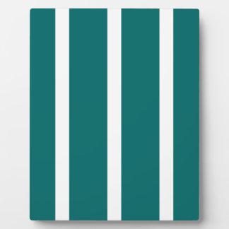 Mutiger aquamariner Streifen Fotoplatte