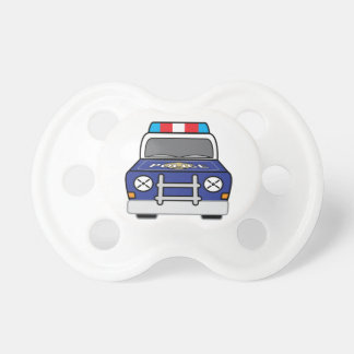Mutiger blauer Polizei-Streifenwagen Schnuller