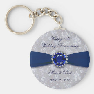 Mutiger Hochzeitstag-Schlüsselkette des Damast-45. Schlüsselanhänger