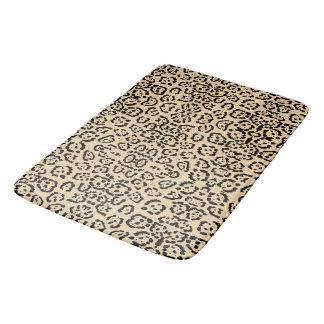 Mutiger Kaffee-Leopard-Tierkatzen-Druck Brown Badematten