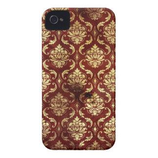 mutiger Kasten des Vintagen antiken roten iPhone 4 Case-Mate Hüllen