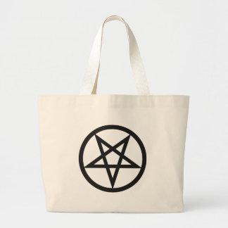 Mutiger Pentagram Jumbo Stoffbeutel