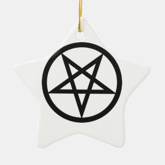 Mutiger Pentagram Keramik Ornament