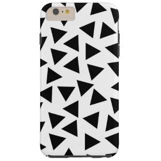 Mutiger Schwarzweiss-Dreieck-Druck Tough iPhone 6 Plus Hülle
