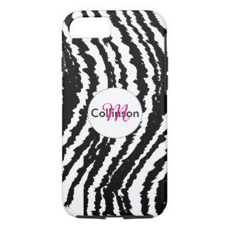 Mutiger Schwarzweiss-Zebra-Streifen-Entwurf iPhone 8/7 Hülle