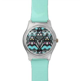 Mutiger Stammes- Pastell Armbanduhr
