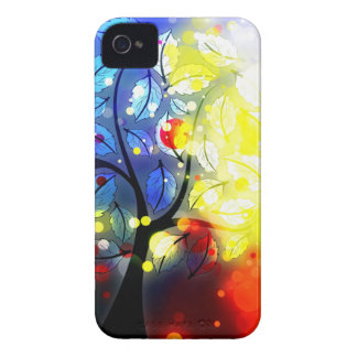 Mutiger u. Chic-Baumroter gelber Watercolor iPhone 4 Case-Mate Hüllen