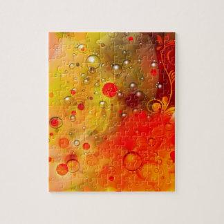 Mutiger u. Chic-gelbe Roseroter Watercolor Puzzle